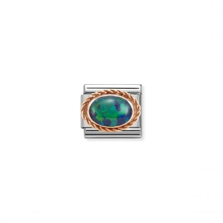 Nomination Composable Classic Unisex  Link Green Opal